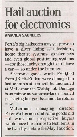 mclernons auction in the west australian newspaper