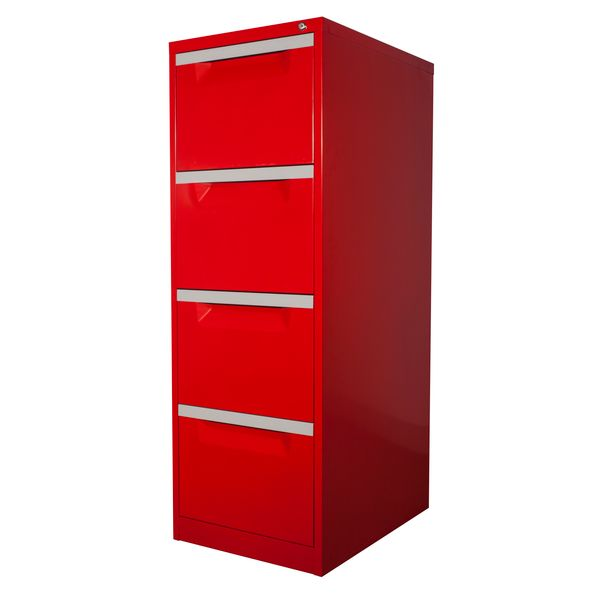 clearance filing cabinet red